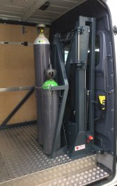 Gasfles transport